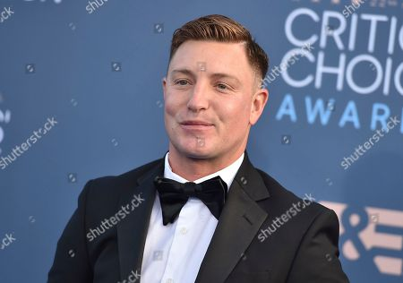 Stock Image of Lane Garrison arrives at the 22nd annual Critics' Choice Awards at the Barker Hangar, in Santa Monica, Calif