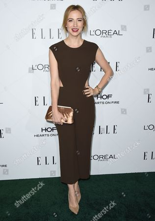 Beth Riesgraf arrives at the 23rd annual ELLE Women in Hollywood Awards at the Four Season Hotel, in Los Angeles
