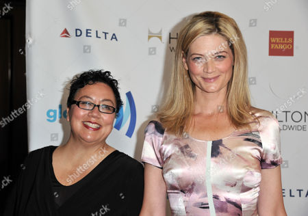 Rena Brannan, left, and Sophie Ward arrive at the 25th Annual GLAAD Media Awards on Richard Shotwell/Invision/AP