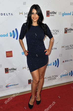 Rachel Sterling arrives at the 25th Annual GLAAD Media Awards on