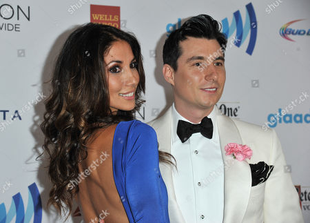 Leilani Dowding, left, and Anthony Watson arrive at the 25th Annual GLAAD Media Awards on