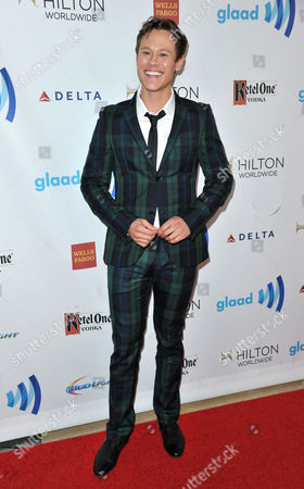Stock Image of Guy Wilson arrives at the 25th Annual GLAAD Media Awards on Richard Shotwell/Invision/AP