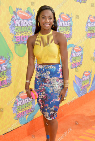 Coco Jones arrives at the 27th annual Kids' Choice Awards at the Galen Center, in Los Angeles