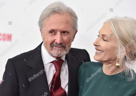 Stock Image of Bert Fields and Barbara Guggenheim arrive at the 29th American Cinematheque Awards honoring Reese Witherspoon at the Hyatt Regency Century Plaza, in Los Angeles