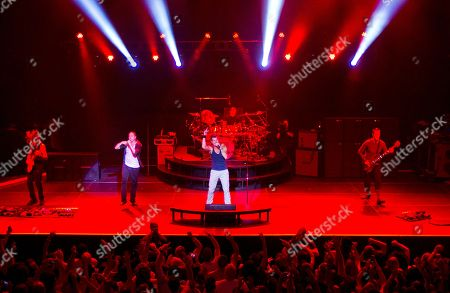 Tom Mahoney, Doug Martinez, Nick Hexum, Chad Sexton and Aaron Wills of hit rock band 311 performed in concert at The Tabernacle, in Atlanta, Ga