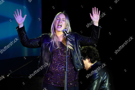 """Stock Picture of Maureen """"Mozella"""" McDonald performs her song """"Wrecking Ball"""" at the 32nd Annual ASCAP Pop Music Awards at the Loews Hollywood Hotel, in Los Angeles"""