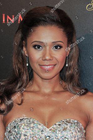 Toks Olagundoye arrives at the 39th Annual Gracie Awards, in Beverly Hills, Calif