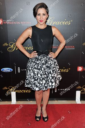 Nikki Boyer arrives at the 39th Annual Gracie Awards, in Beverly Hills, Calif