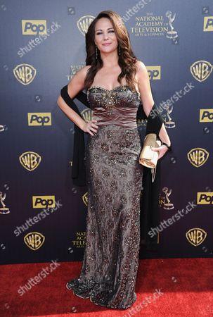 Jade Harlow arrives at the 42nd annual Daytime Emmy Awards at Warner Bros. Studios, in Burbank, Calif