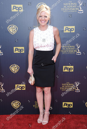 Kirsten Storms arrives at the 42nd annual Daytime Emmy Awards at Warner Bros. Studios, in Burbank, Calif