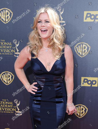 Allison Sweeney arrives at the 42nd annual Daytime Emmy Awards at Warner Bros. Studios, in Burbank, Calif