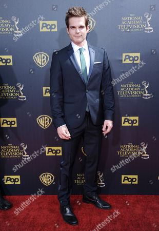 Greg Rikaart arrives at the 42nd annual Daytime Emmy Awards at Warner Bros. Studios, in Burbank, Calif