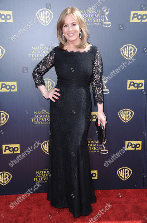 Genie Francis arrives at the 42nd annual Daytime Emmy Awards at Warner Bros. Studios, in Burbank, Calif