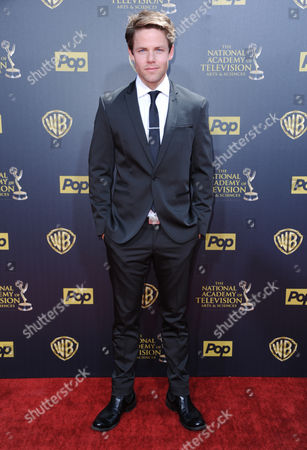 Lachlan Buchanan arrives at the 42nd annual Daytime Emmy Awards at Warner Bros. Studios, in Burbank, Calif
