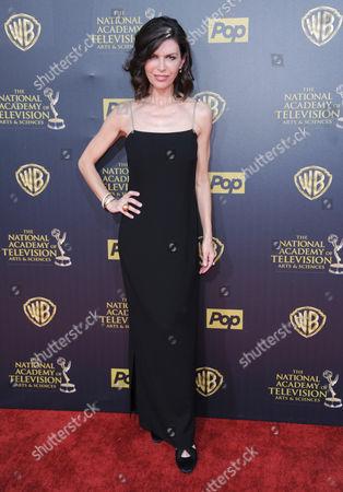 Finola Hughes arrives at the 42nd annual Daytime Emmy Awards at Warner Bros. Studios, in Burbank, Calif