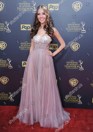 Haley Pullos arrives at the 42nd annual Daytime Emmy Awards at Warner Bros. Studios, in Burbank, Calif