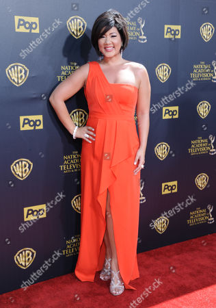 Tessanne Chin arrives at the 42nd annual Daytime Emmy Awards at Warner Bros. Studios, in Burbank, Calif
