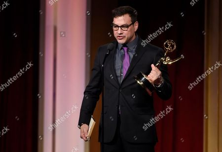 Tyler Christopher accepts the award for outstanding lead actor for General Hospital at the 43rd annual Daytime Emmy Awards at the Westin Bonaventure Hotel, in Los Angeles