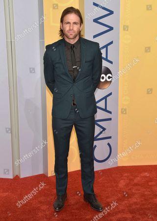Canaan Smith arrives at the 50th annual CMA Awards at the Bridgestone Arena, in Nashville, Tenn