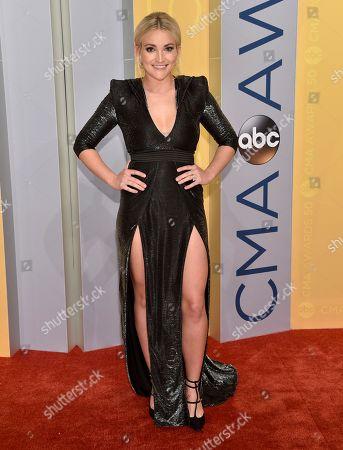 Jamie Lynn Spears arrives at the 50th annual CMA Awards at the Bridgestone Arena, in Nashville, Tenn