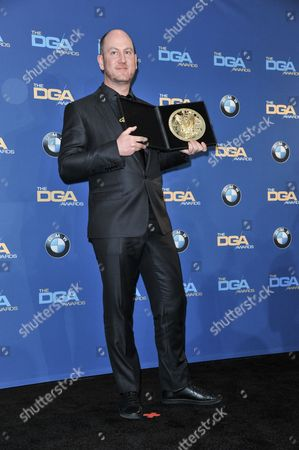 Martin de Thurah poses in the press room of the the 66th Annual DGA Awards Dinner at the Hyatt Regency Century Plaza Hotel, in Los Angeles, Calif