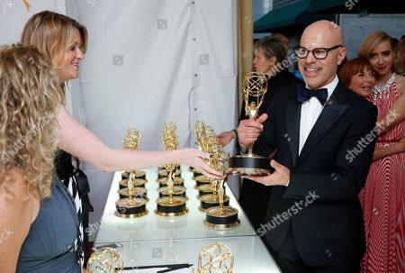 Stock Photo of Producer Steven Shareshian backstage at the 67th Primetime Emmy Awards, at the Microsoft Theater in Los Angeles
