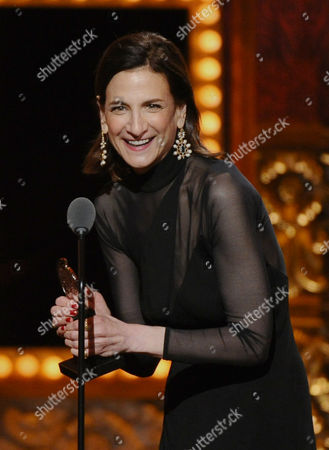 Natasha Katz accepts the award for best lighting design for a musical for An American in Paris at the 69th annual Tony Awards at Radio City Music Hall, in New York