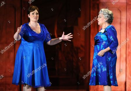 Lisa Howard, left, and Tyne Daly from the cast of It Shoulda Been You perform at the 69th annual Tony Awards at Radio City Music Hall, in New York