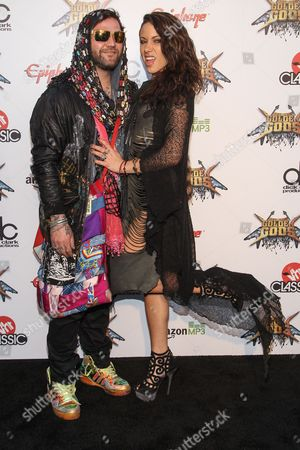 Stock Image of Bam Margera and Nicole Boyd attend the 6th Annual Revolver Golden Gods Award Show at Club Nokia on in Los Angeles, California