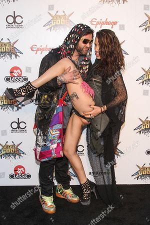 Bam Margera and Nicole Boyd attend the 6th Annual Revolver Golden Gods Award Show at Club Nokia on in Los Angeles, California