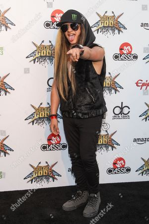 Stock Photo of Guitarist Nik Kai attends the 6th Annual Revolver Golden Gods Award Show at Club Nokia on in Los Angeles, California