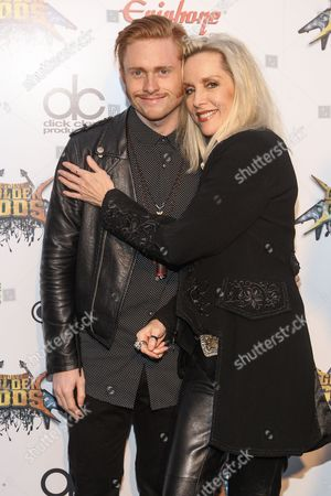 Cheri Currie Musician Cherie Currie, right, and son Jake Hays attend the 6th Annual Revolver Golden Gods Award Show at Club Nokia on in Los Angeles, California