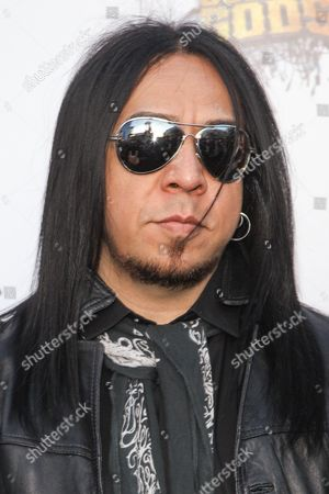 Stock Picture of Guitarist Sin Quirin of Ministry attends the 6th Annual Revolver Golden Gods Award Show at Club Nokia on in Los Angeles, California