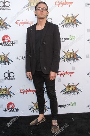 """Stock Photo of Tyler """"Telle"""" Smith of The Word Alive attends the 6th Annual Revolver Golden Gods Award Show at Club Nokia on in Los Angeles, California"""