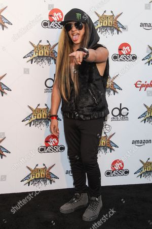 Stock Picture of Guitarist Nik Kai attends the 6th Annual Revolver Golden Gods Award Show at Club Nokia on in Los Angeles, California
