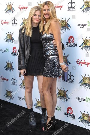 Susan Holmes, and daughter/ vocalist of The Pink Slips Grace McKagan attend the 6th Annual Revolver Golden Gods Award Show at Club Nokia on in Los Angeles, California