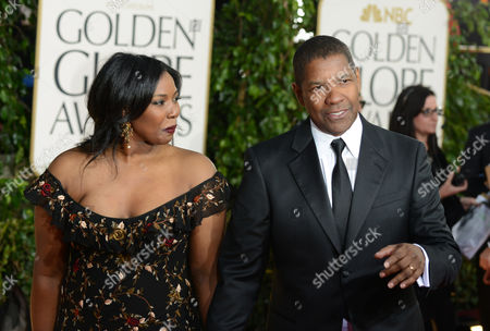 Actor Denzel Washington, right, and his daughter Olivia Washington arrive at the 70th Annual Golden Globe Awards at the Beverly Hilton Hotel, in Beverly Hills, Calif