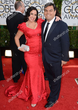 Editorial image of 71st Annual Golden Globe Awards - Arrivals, Beverly Hills, USA