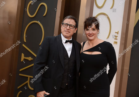Stock Photo of David O. Russell and Janet Grillo arrive at the Oscars, at the Dolby Theatre in Los Angeles