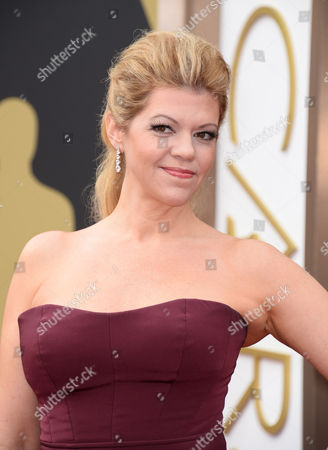 Robin Mathews arrives at the Oscars, at the Dolby Theatre in Los Angeles