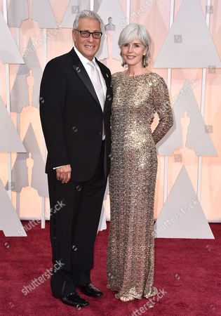 Hawk Koch, left, and Molly Koch arrive at the Oscars, at the Dolby Theatre in Los Angeles