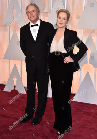 Don Gummer, left, and Meryl Streep arrive at the Oscars, at the Dolby Theatre in Los Angeles