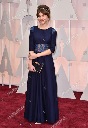 Agata Trzebuchowska arrives at the Oscars, at the Dolby Theatre in Los Angeles