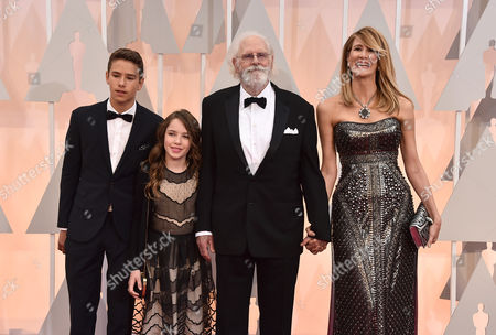Stock Photo of From left, Ellery Walker Harper, Jaya Harper, Bruce Dern, and Laura Dern arrive at the Oscars, at the Dolby Theatre in Los Angeles