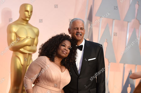 Oprah Winfrey, left, and Stedman Graham arrive at the Oscars, at the Dolby Theatre in Los Angeles