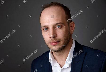 """Jamie Donoughue, writer-director of the short film, """"Shok,"""" poses for a portrait at the 88th Academy Awards Nominees Luncheon at The Beverly Hilton hotel, in Beverly Hills, Calif"""