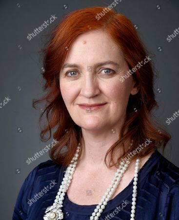 Emma Donoghue poses for a portrait at the 88th Academy Awards Nominees Luncheon at The Beverly Hilton hotel, in Beverly Hills, Calif