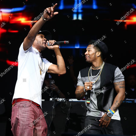 DJ Quik, left, and Chingy perform during 93.5 KDAY's Krush Groove held at The Forum, in Inglewood, Calif