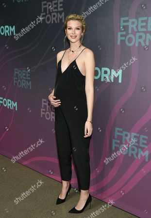 Actress Emma Ishta attends the ABC Freeform 2016 Upfront at Spring Studios, in New York