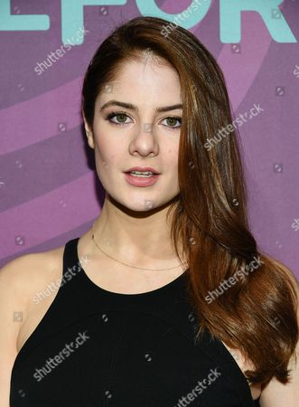 Actress Emily Tremaine attends the ABC Freeform 2016 Upfront at Spring Studios, in New York